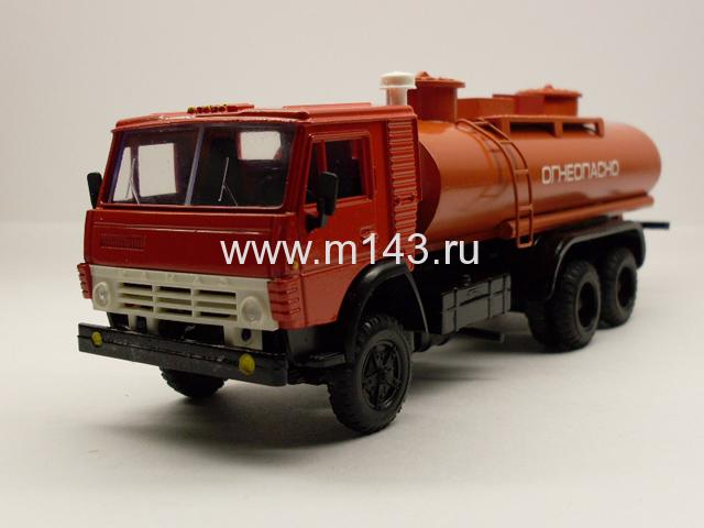 """Масштабная модель КамАЗ 53212 цистерна  """"Огнеопасно """" (круглая).  Казанская лаборатория.  Код: 9211 Масштаб: В наличии..."""